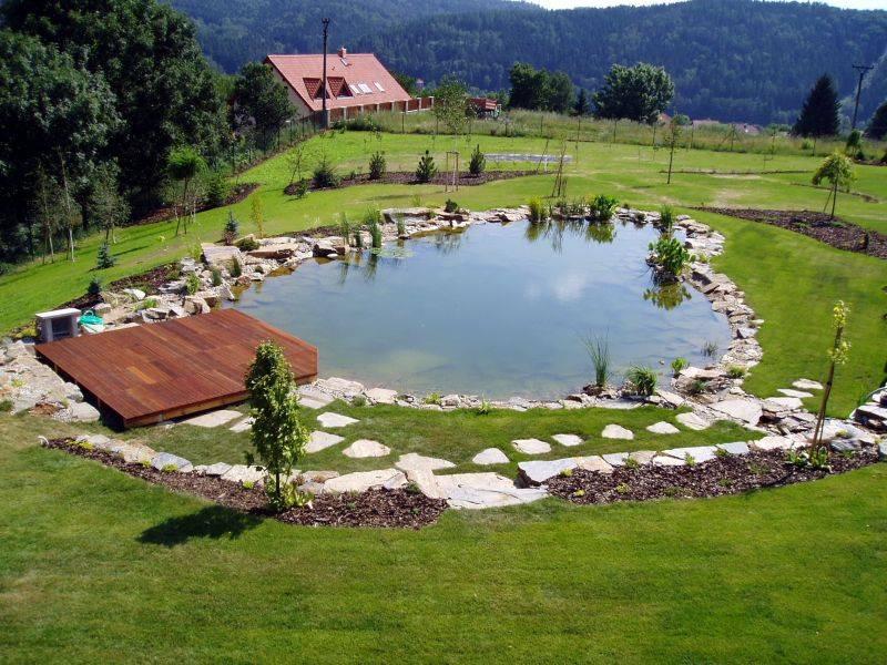 Zahradní jezírka: koupaci jezirko sazava