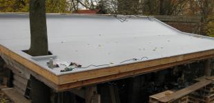 Zahradní jezírka: Izolace střechy