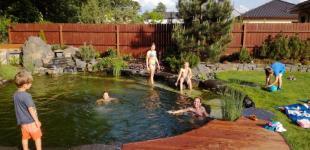Zahradní jezírka: Koupací jezírko Zlatá