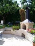Zahradní jezírka: Krb a terasa - pískovec