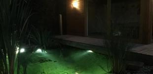 Zahradní jezírka: LED osvětlení jezírka - zahradní jezírko Světice