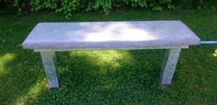 Zahradní jezírka: Lavice na cvičení - pozink a lodní koženka