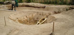 Zahradní jezírka: Stavba jezírka Babice - hrubý výkop
