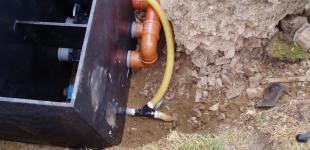 Zahradní jezírka: Stavba jezírka Líšnice - napojení filtrace