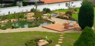 Zahradní jezírka: Stavba jezírka Železná - finální stav