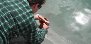 Zahradní jezírka: Stavba jezírka Železná - instalace skimmeru