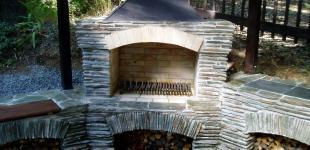 Zahradní jezírka: kameny krb hvozdy02