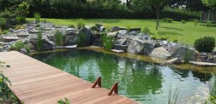 Zahradní jezírka: koupaci jezirko klokocna