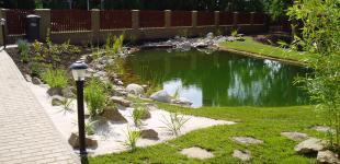Zahradní jezírka: koupaci jezirko kourim