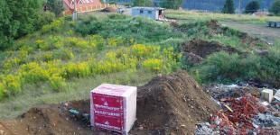 stavba koupacího jezírka Sázava - počáteční stav