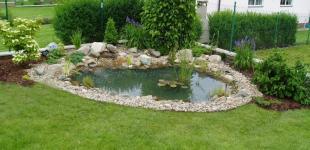 Zahradní jezírka: zahradni jezirko dubecek