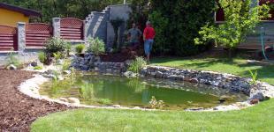 Zahradní jezírka: zahradni jezirko rez